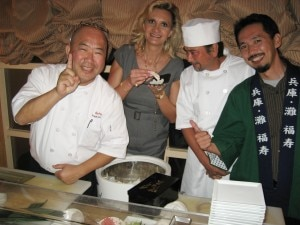 Chef Toshi Sugiura and his team with Sophie