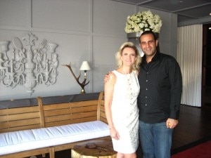 Sam Nazarian with Sophie Gayot