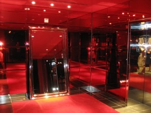 Elevator lobby at SLS Hotel at Beverly Hills