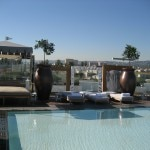 Pool area at SLS Hotel at Beverly Hills