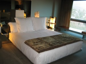 Bedroom at SLS Hotel at Beverly Hills