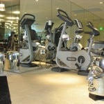 Top of the line TechnoGym equipment with Starck's touches