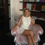 I could not resist the pink armchair at SLS Hotel at Beverly Hills