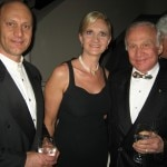 Alain & Sophie Gayot with astronaut Buzz Aldrin from Apollo 11