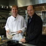 Brad Buckley cooking Abalone with Alain
