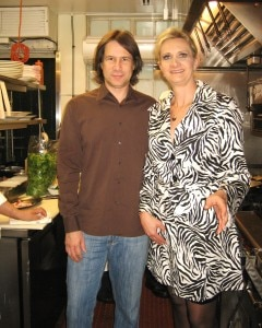 Andrew Hewitt & Sophie Gayot in the kitchen of Il Sole