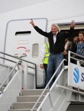 Cheerful Sir Richard Branson