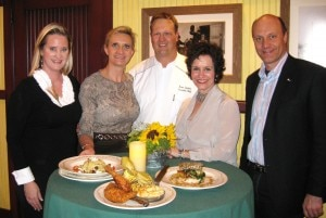 The Gayots with Karen LuKanic, chef Hans Goplen and Fran Berger