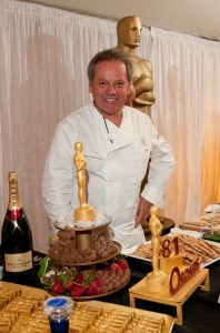 Wolfgang Puck at this morning's press event
