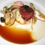 #1 Jerome Rejano dish: my rating 7/10. Grilled flat iron steak with miso potato puree and tempura enoki mushroom.