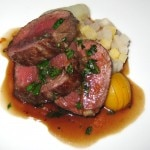 #4 Daniel Agregaard dish: my rating 6/10. Seared venison loin with root vegetable trio and a pomegranate julie.