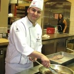 #8 WINNER David Awad prepping in the kitchen