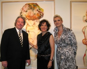 Artist Kim McCarty with her husband/restaurateur Michael and Sophie Gayot