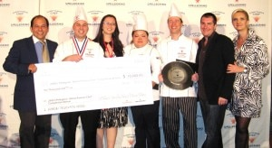 The winners of the Almost Famous Chef 2009 competition