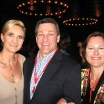 From Nestlé Waters America: Bob Davino, Karen Ress, with Sophie Gayot