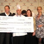 Winner David Awad with Karen Ress from Nestlé, his teacher and Sophie Gayot