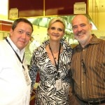 Chefs/judges Robert Wysong and Bob Hurley with Sophie Gayot