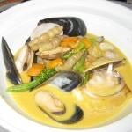 North Sea whitefish in saffron broth