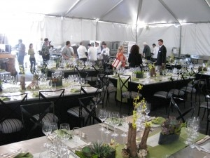 Elegant tables for a top lunch at the Second Annual Pebble Beach Food & Wine