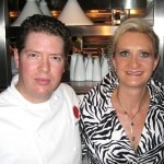 Executive chef Steven Fretz with Sophie Gayot
