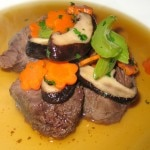 Andy Cook's braised beef in a cardamom broth