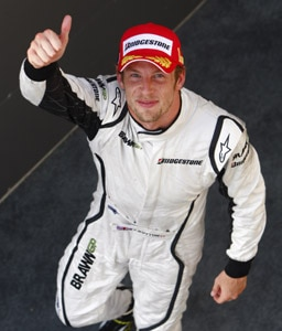 Formula One racer Jenson Button