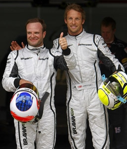 jenson button rubens barrichello Jenson Button and Rubens Barrichello