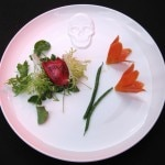 John Sedlar salad; check the detail on top of the plate
