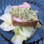 Morels' seared ahi tuna from chef Olivier Bouillot