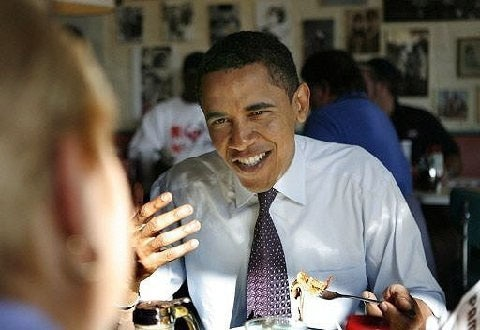 President Obama at Pamela's P&G Diner in Pittsburgh, PA
