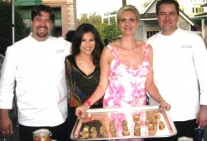Chefs Rory Herrman & Bryan Podgorski of Bouchon Beverly Hills & Las Vegas, with Victoria Recano, The Insider