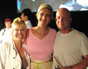 sophiegayottopchef 300x235 Top Chef Contestants Betty Fraser and Stefan Ritcher with Sophie Gayot