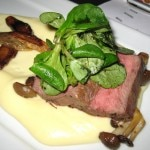 The winning dish, steak on a delicate potato purée