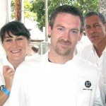 Chef Brian Moyers, pastry chef Jessica Goryl, west coast managing partner Brad Johnson from BLT