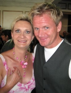 Famous chef Gordon Ramsay with Sophie Gayot