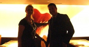 Matt Erickson, Director of Operations, with Sophie Gayot