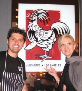 Chef Ludovic Lefebvre with Sophie Gayot