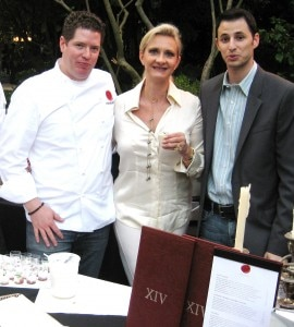 Chef Steven Fretz, general manager Ryan Cole from XIV restaurant