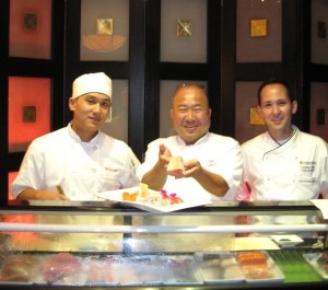 cheffranktoshisugiurajonathanwood 300x265 Chefs Frank Toshi Sugiura (middle), Jonathan Wood (right), and