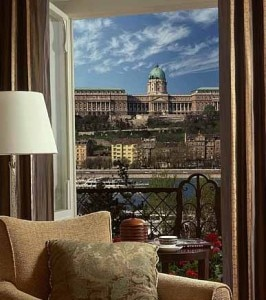 View from a guest room at the Four Seasons Hotel in Budapest