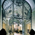 Iron gate entrance at the Four Seasons Hotel in Budapest