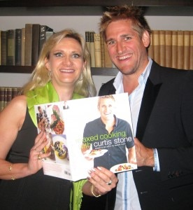 sophiegayotcurtisstone 276x300 Chef Curtis Stone showing his new book to Sophie Gayot