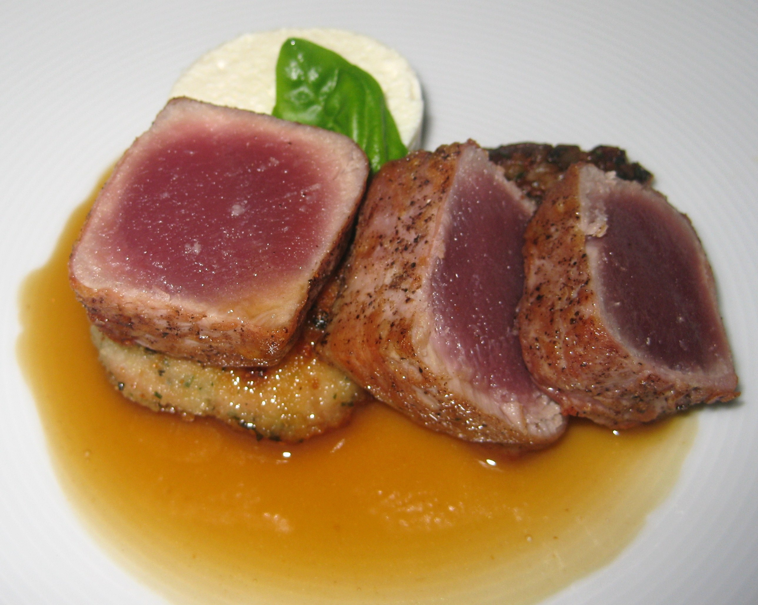 ahi tuna salad seared ahi tuna with sesame pan seared ahi tuna on a ...