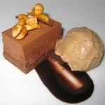 Bittersweet chocolate and peanut butter mousse
