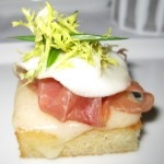 Croque madame with prosciutto