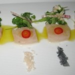 Hiramasa crudo with four salts