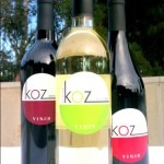 Three different grape varietals of KOZ Wine