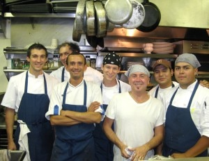 laurentqueniousbistrolq 300x232 Chef Laurent Quenioux (in a white tee shirt) from Bistro LQ and his team