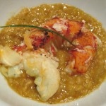 Maine lobster with oatmeal infused in fresh fennel lobster broth