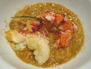 mainelobsterbistrolqlosangeles 300x229 Maine lobster with oatmeal infused in fresh fennel lobster broth